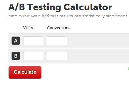 A  B Testing Calculator Analytics