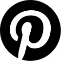 pinterest black logo