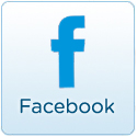 facebook light blue icon