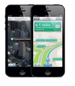 iPhone 5 3D Maps