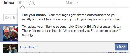 Facebook Email SPAM