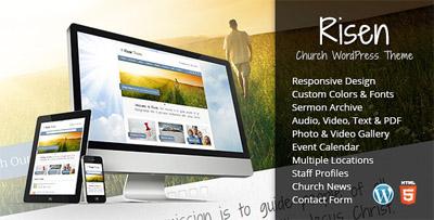 Risen Church WordPress Theme