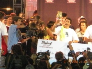 P Rod Celebrating Winning Maloof Money Cup 2008