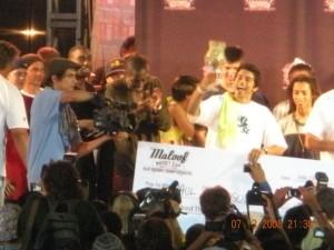 P Rod Celebrating Winning Maloof Money Cup 2008