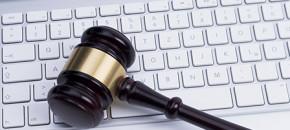 gavel and keyboard internet law