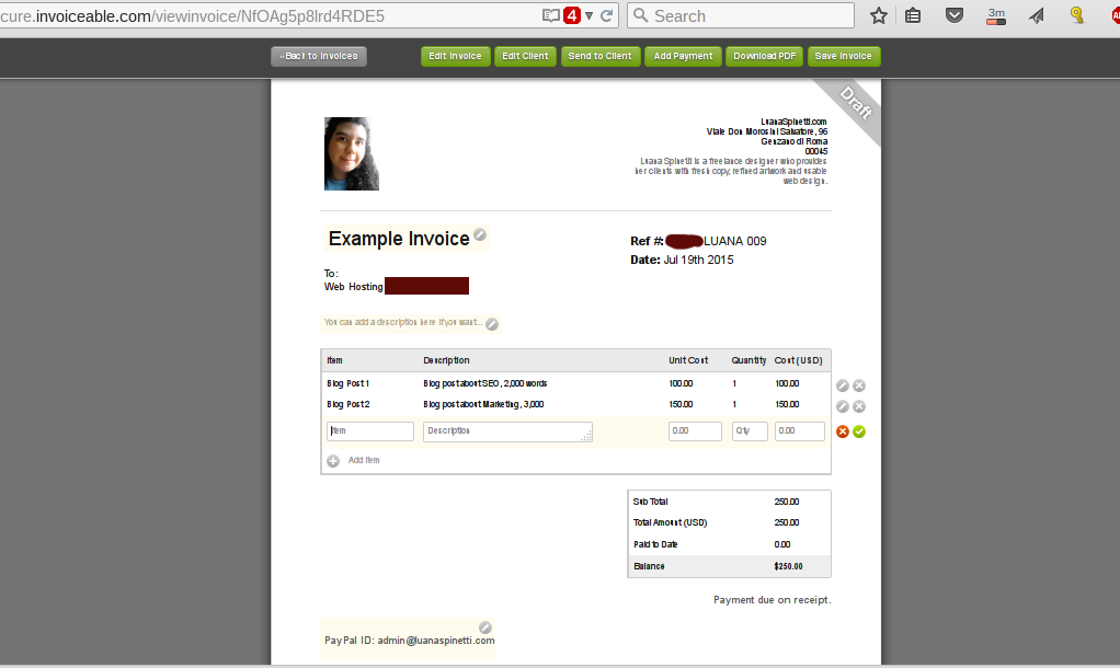 Invoiceable.com Example