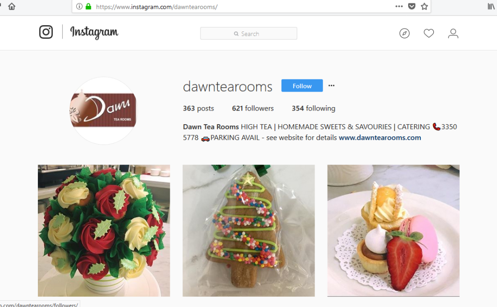 Dawn Tea Rooms on Instagram