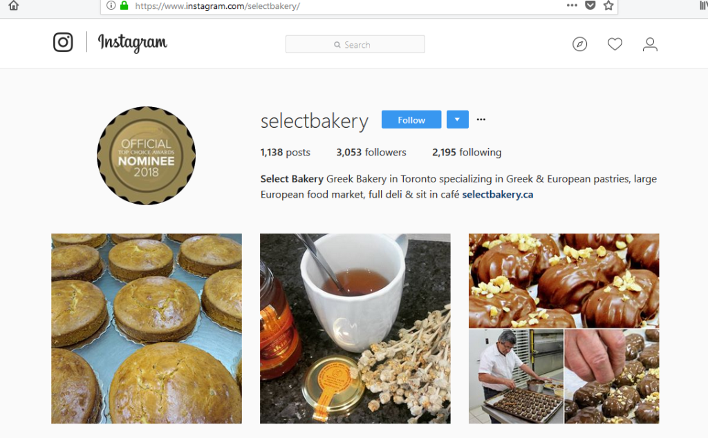 Select Bakery on Instagram