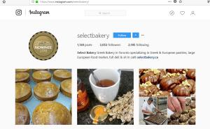 Select Bakery on Instagram